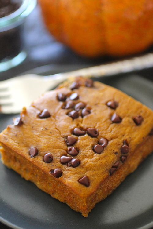 Pumpkin Chocolate Chip Snack Cake | Dashing Dish