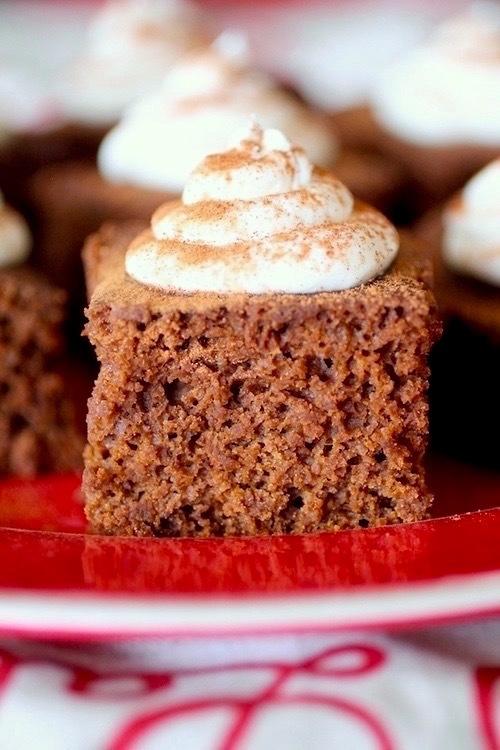 Clean Eating Gingerbread Snack Cake | Dashing Dish