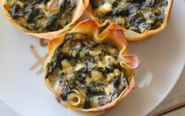 Skinny Spinach Dip Cups