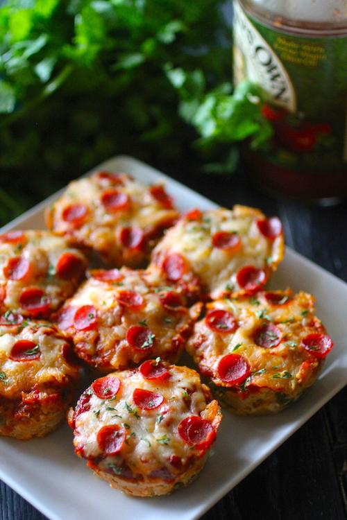 Mini Turkey Pizza Meatloaves