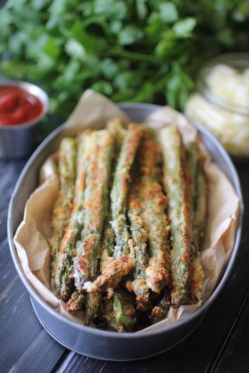 Parmesan Garlic Asparagus Fries Dashing Dish