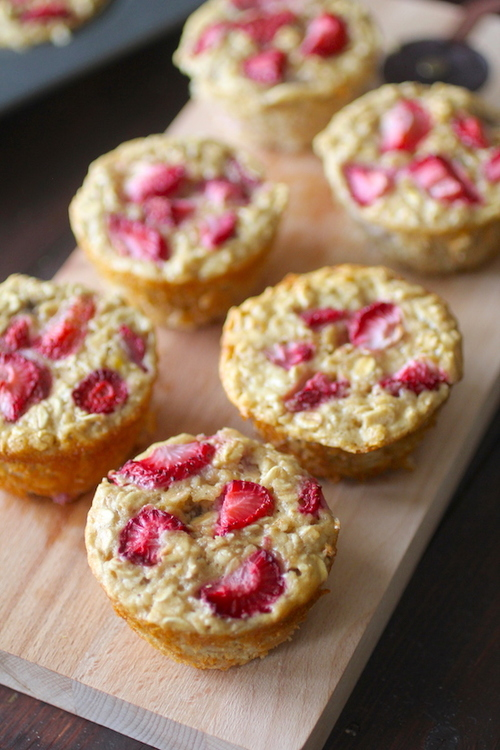 Strawberry Baked Oatmeal Singles