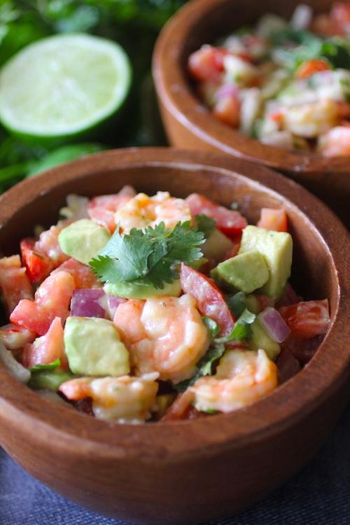 Skinny Shrimp Avocado Salad