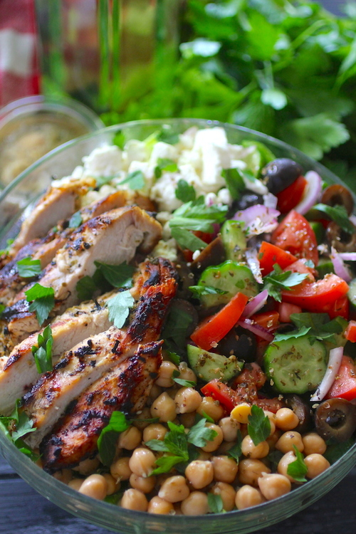 Grilled Mediterranean Chopped Salad