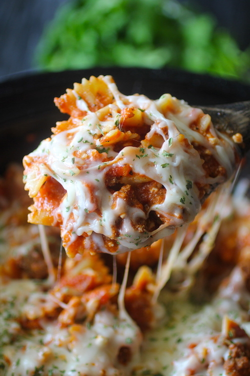 Clean Eating Crockpot Lasagna Casserole