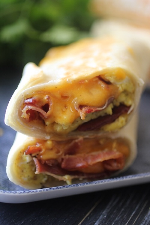 Bacon Egg & Cheese Breakfast Burritos