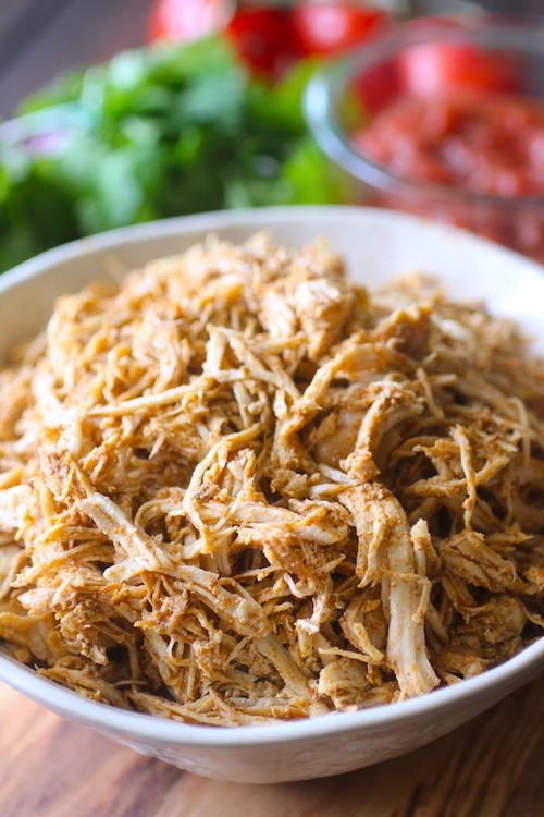 Easiest Crockpot Pulled Mexican Chicken