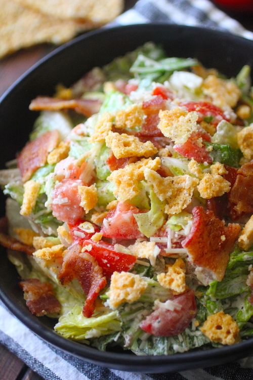 Chopped BLT Caesar Salad