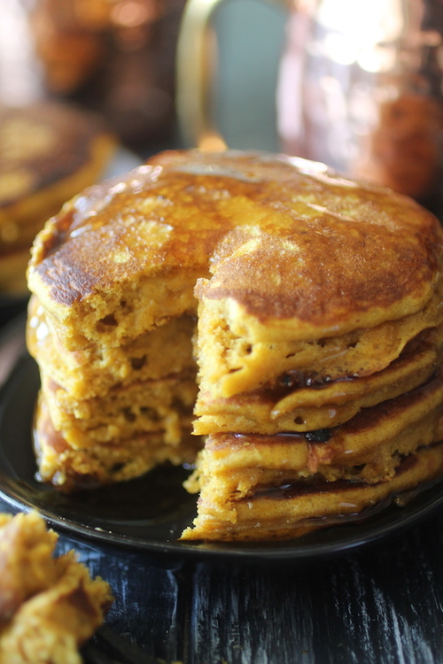 Low Carb Pumpkin Pancakes for One