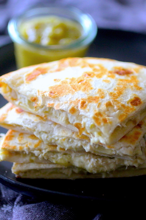 Jalapeño Popper Chicken & Cheese Quesadillas