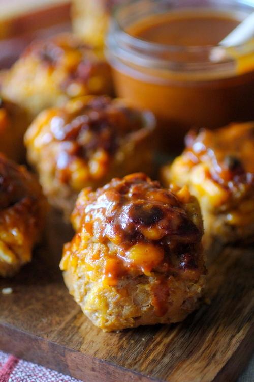 Mini Cheddar BBQ Meatloaves