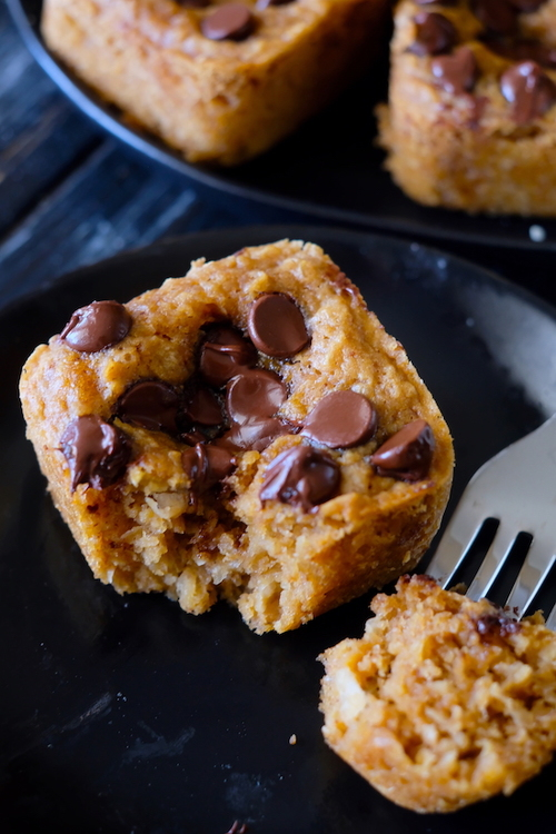 Flourless Chocolate Chip Cookie Muffins