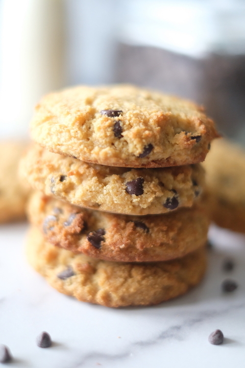 5 Ingredient Low Carb Chocolate Chip Cookies