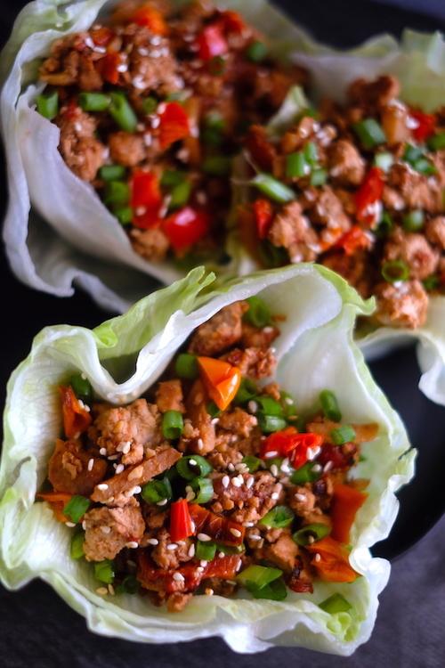 10 Minute Low Carb Asian Turkey Lettuce Wraps