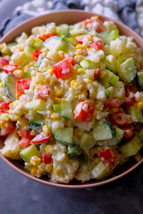 Clean Eating Cauliflower Corn Salad