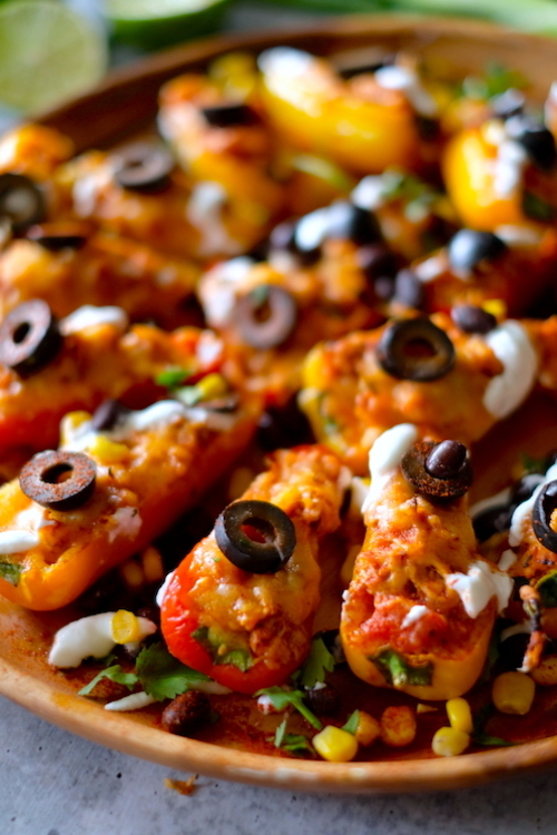Grilled (or Oven) Low Carb Chicken Nachos