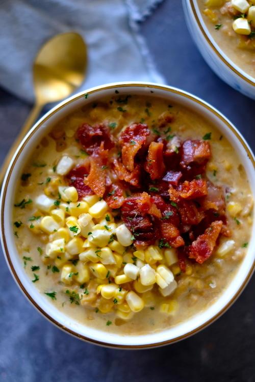 Low Carb Corn & Zucchini Chowder