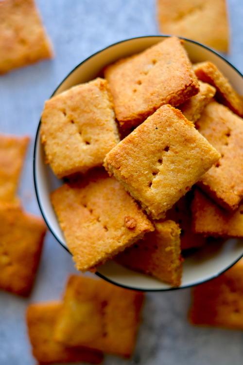 15 Minute Grain Free Parmesan Crackers