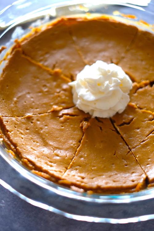 40 Calorie Crustless Pumpkin Pie