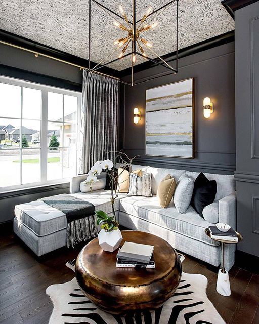 Moody Grey Living Room