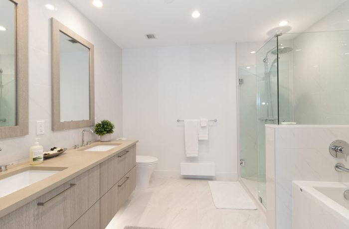 Master Bathroom, Large Closets