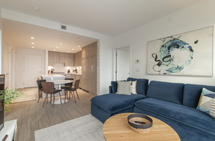 Open Concept Living Room and Dining Area