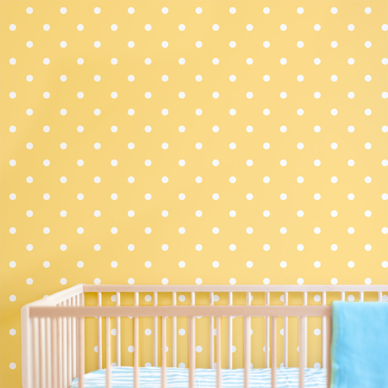 Polka-dot-nursery-wallpaper-2 - The Van Horn Advocate