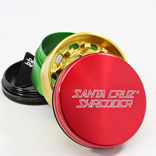 Santa Cruz Shredder - Mini 4 Piece mini shredder, mini grinder, small grinder, santa cruz, santa cruz shredder, shredder, grinder, sc shredder, grinders, 4 pc grinder, 4 peice grinder, medium grinder, medium shredder, pollen catcher, santa cruz grinder