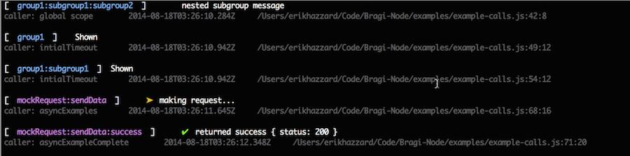 Bragi - Javascript Logging Library