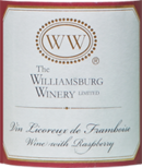 Vin licoreux de framboise label