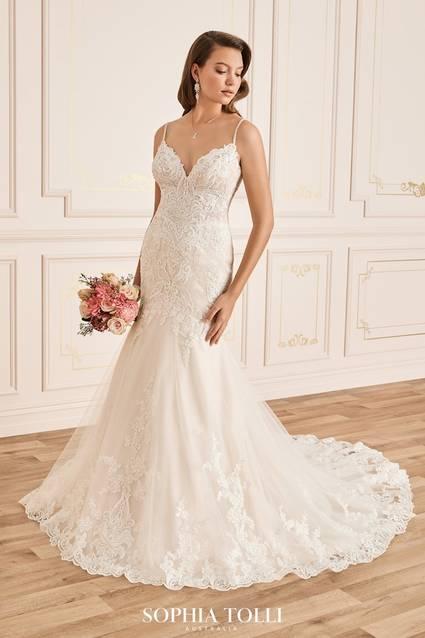 Mon Cheri Style Y12021LS wedding dress