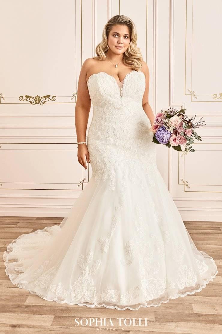 Mon Cheri Style Y12020LS wedding dress