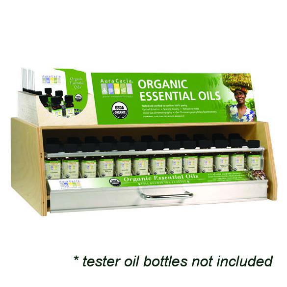Aura Cacia Organic Oil Display, 1 Tier, (39ct) 80% Off Sale