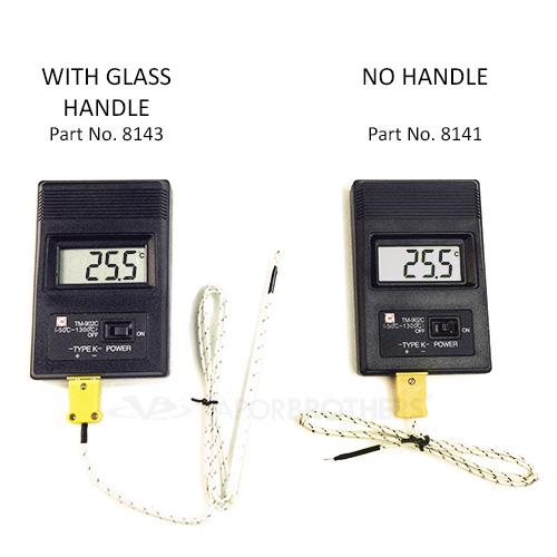 High Temperature Digital Thermometer, K-Type Thermocouple 50-1300C, Model TM-902C