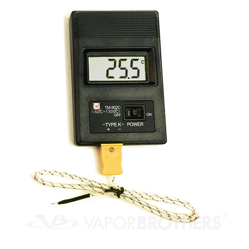 High Temperature Digital Thermometer, K-Type Thermocouple 50-1300C, Model TM-902C - 8143