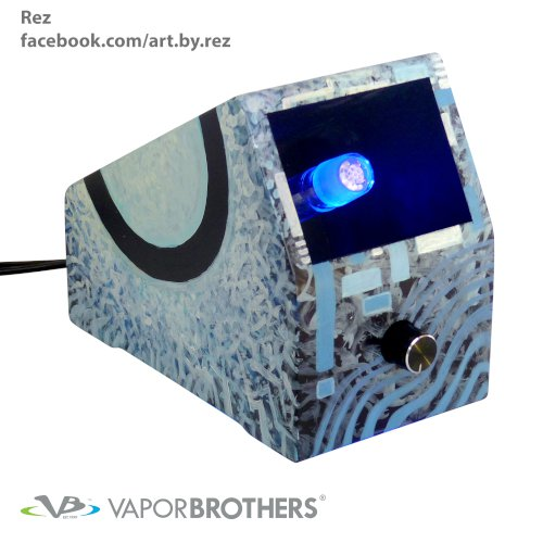 Rez Vaporbrothers VB1 Vaporizer - Hands Free - 120V  vapor brothers hands free vaporizer, whip, vaporbrothers, handsfree, box vaporizer, vaporbox, ceramic, glass pipes