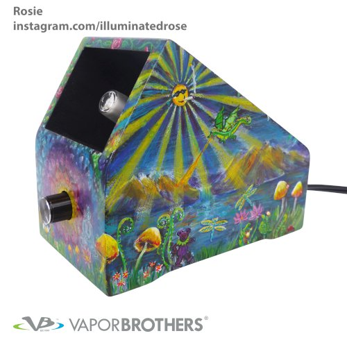 [SOLD] Illuminated Rose Vaporbrothers VB1 Vaporizer - Hands Free - 120V - 8040-Iluminated-Rose