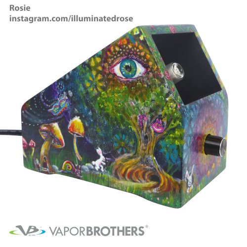 Illuminated Rose Vaporbrothers VB1 Vaporizer - Hands Free - 120V vapor brothers hands free vaporizer, whip, vaporbrothers, handsfree, box vaporizer, vaporbox, ceramic, glass pipes