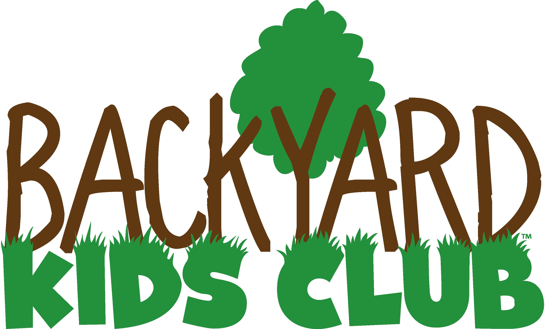 Wooden Club Clipart Backyard kids club logo - b&w
