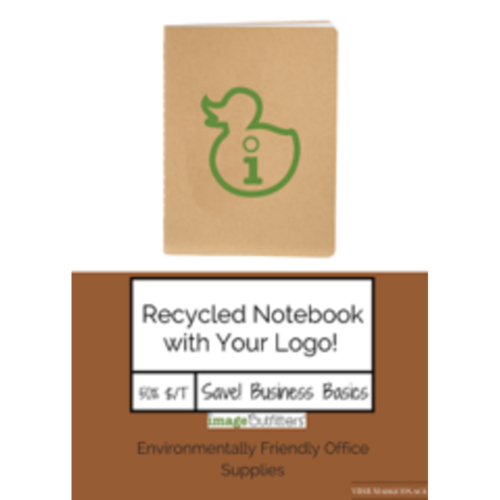 100% Recycled Notebooks w/Your Logo
