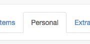 personal tab