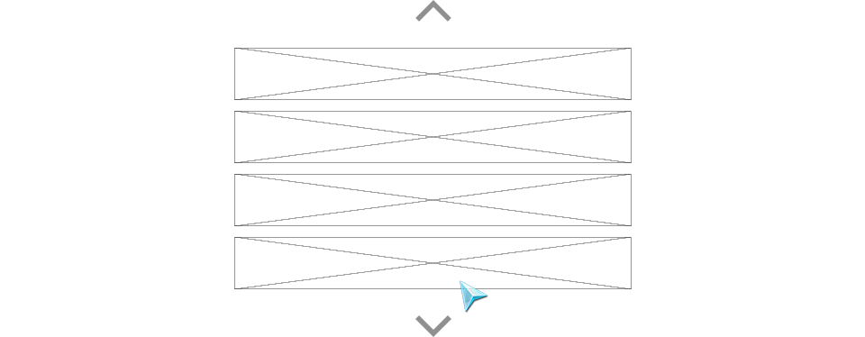 Figure 3-22. Examples of indicators provided for a vertical list