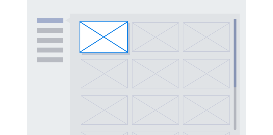 A good example of applying vertical menu style