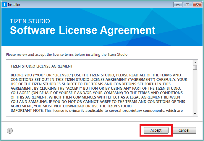 Figure 1. Software license agreement