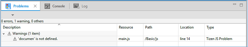 Figure 4. JavaScript scan results in the Problems view