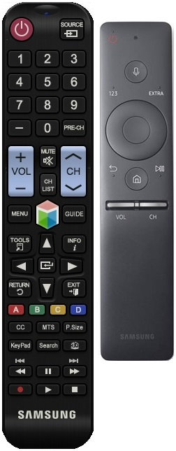 Figure 1. Basic remote control and Samsung Smart Remote