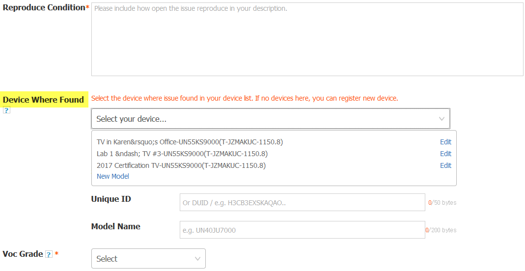 Figure 4. Select Registered Device at 1:1 Q&A
