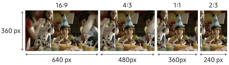 Figure 4. Thumbnail image aspect ratios