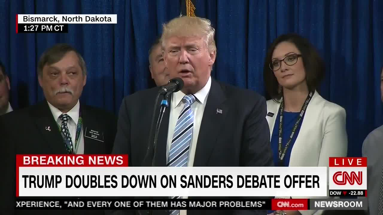 Donald Trump Say's He'll Debate Bernie Sanders If He Raises $10 Million For Charity
