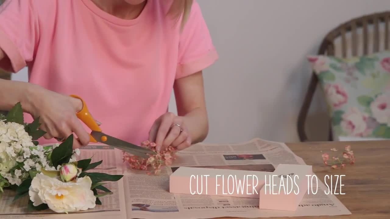 Craft Corner: Decorative Faux Flower Letters